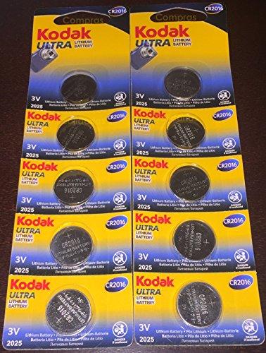 Kodak Ultra 10 pile CR2016, di alta qualità e a lunga durata-boton batterie al litio 3 V CR 2016 comandi per orologi, migliori di duracell maxell panasonic energizer-venduto da acquisti in solido