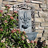 The Bordeaux - Outdoor Wall Fountain - Slate Grey - Water Feature for Garden, Patio and Landscape Enhancement
