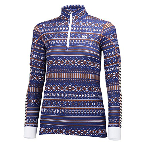 Helly Hansen 2015/16 Women's HH Active Flow Graphic 1/2 Zip Long Sleeve Shirt - 48464 (Princess Purple - S)