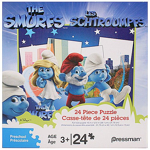 The Smurfs 24 Piece Puzzle - In the Forest