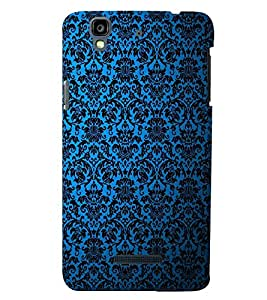 PRINTSWAG BLUE PATTERN Designer Back Cover Case for MICROMAX YU YUREKA