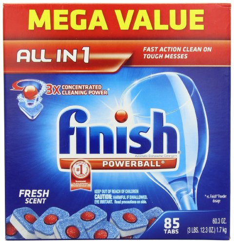 Finish Powerball Tabs Dishwasher Detergent, Fresh