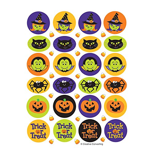 Creative Converting Halloween Friends 4 Sheets of Stickers, Multicolor