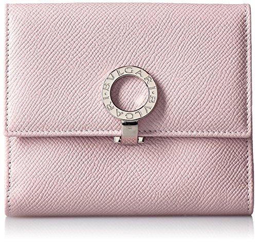 宝格丽bvlgari女式对折粉色零钱包