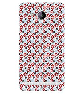 ifasho Animated Pattern colrful design flower with leaves Back Case Cover for VIVO Xshot