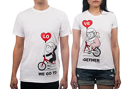 "T-Shirt 4 Sweetday ""We Go Together"" Couple T-Shirts"