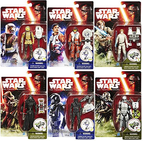 Star Wars: Episode VII - The Force Awakens 3 3/4-Inch Jungle and Space Action Figures Wave 1 Case (Package of 12)