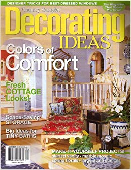 country sampler decorating ideas magazine april 2004