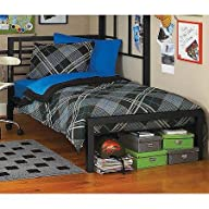Your Zone Metal Twin Bed Black