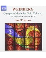 Mieczyslaw Weinberg : Musique pour violoncelle seul, vol. 1