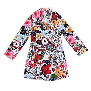 WL-MONSOON Little Girls'Flower Patterned Trench Outwear Size US 6
