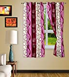 Story @ Home Pink Polyster Nature 2 pc Window curtain-5 Feet