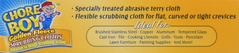 Amazon.com: Chore Boy Golden Fleece Scrubbing Cloth, 2 Cloths per ...