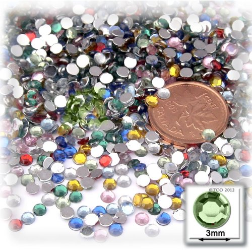 1440pc Rhinestones Round 3mm – 10ss Multi Assortment