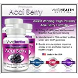 PREMIUM ACAI (3 Bottles) - High Potency, Pure Acai Berry - All-Natural Weight Loss, Colon Cleanse, Detox, Antioxidant Superfood Supplement. 515mg Per Capsule ~ Premium Acai Berry