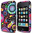 Colorful Jelly Fish Design - Silicone Gel TPU Mobile Phone Case Cover For Apple iPhone 3G 3GS / Black