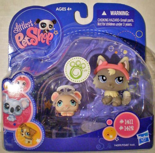Buy Low Price Hasbro Littlest Pet Shop 2010 Assortment 'A' Series 2 Collectible Figure Cat & Mouse (B0038AKA5E)