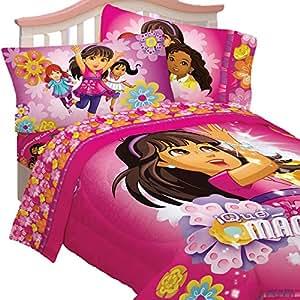 4pc dora the explorer twin bedding set dora and friends