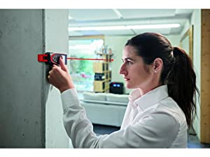 Leica DISTO D2 New 330ft Laser Distance Measure with Bluetooth 4.0, Black/Red (Color: Black / Red, Tamaño: 1.7 x 1 x 4.6 inches)