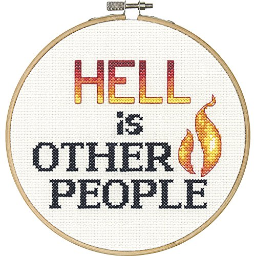 Dimensions Needlecrafts 70-74641 Say It Counted Cross Stitch Kit, Hell