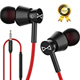 Marsno M2 Wired in Ear Headphones, Earbuds, Full Metal Earphones with Mic and Volume Control, High Definition, Noise Isolating, Deep Bass, Ergonomic Design &Crystal Clear Sound (3.5mm Jack, Premium) (Color: Black)