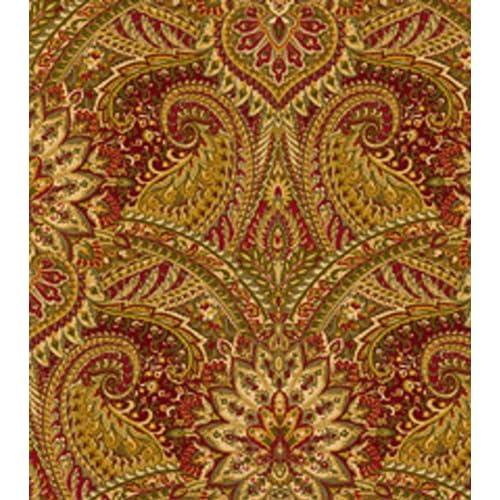 Home Decor Fabric: Home Decor Fabrics-Waverly Toraja Crimson Fabric