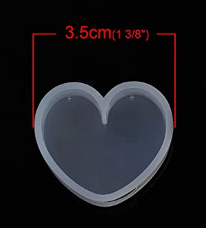 Best Wing Silicone Resin Mold For Jewelry Making (Heart) (Tamaño: Heart)