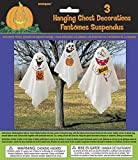 Unique Party Ghost Halloween Hanging Decorations, Pack of 3