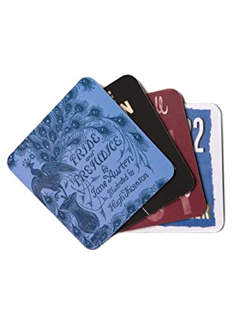 Out of Print Classic Books Coaster Set