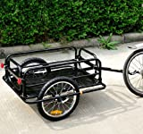 Aosom Wanderer Bicycle Bike Cargo / Luggage Trailer - Black Black