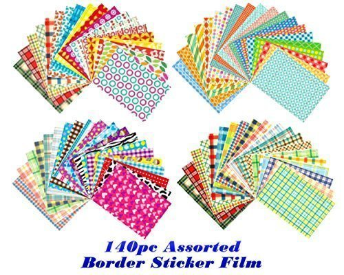 Best Deals! 140pcs Film Sticker Set for Instax Mini Polaroid Camera Photo Decorating and Scrapbookin...