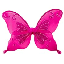 Hot Pink Fairy Princess Costume Wings for Butterfly Fairy or Pixie Costumes. Fuschia Butterfly Wings