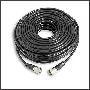 Steren 205-750 50-Feet UHF-UHF Mini-RG8x Cable (Color: Black, Tamaño: 50 Feet)