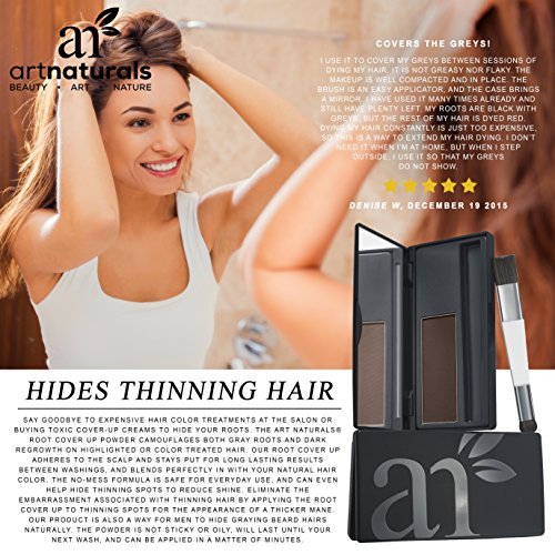 Art Naturals® Root Cover Up | Dark Brown | Color Gray Hair | Powder ...
