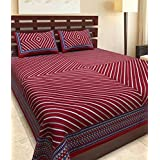 JAIPUR PRINTS Cotton Rajasthani King Size Double Bedsheet With Pillow Cover