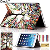 iPad Mini Case, iPad Mini / Mini 2 Retina/ Mini 3 Case Cover, [2014 Release] Dteck(TM) Fashion Vintage Design Flip PU Leather Smart Cute Stand Case, Automatic Wake/ Sleep Function Full Body Protective Case Cover for Apple iPad Mini 1/2/3 (Compatible with 7.9 Inch Tablet) with Long Random Color Touch Screen Stylus & Cleaning Cloth [Kid's Gift/ Christmas Gift] (#04 Lucky Tree)
