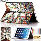 iPad Mini Case, iPad Mini / Mini 2 Retina/ Mini 3 Case Cover, [2014 Release] Dteck TM Fashion Vintage Design Flip PU Leather Smart Cute Stand Case, with Groove to Stand Well, Automatic Wake/ Sleep Function Full Body Protective Case Cover for Apple iPad Mini 1/2/3 (Compatible with 7.9 Inch Tablet) with Long Random Color High Quality Touch Screen Stylus & Cleaning Cloth [Kids Gift]