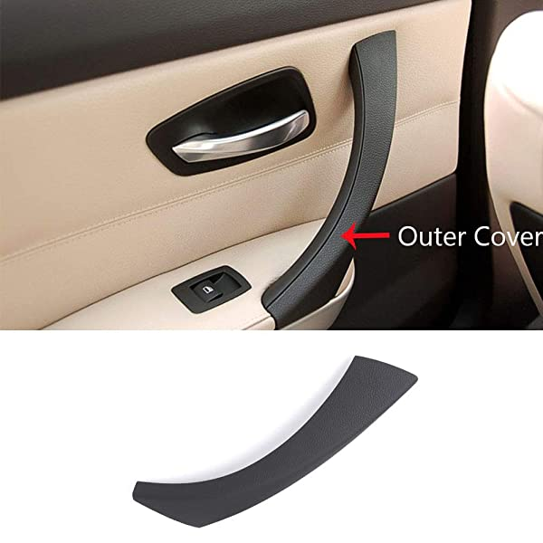 OE Replacement Front or Rear Passenger Side Gray Interior Door Handle with Door Lock Button for Kia REPK462343
