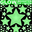STARS Glow-in-the-Dark stickers - LARGE