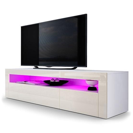 Mobile porta tv Giglio frontali crema lucido