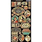 Graphic 45 Raining Cats and Dogs Chipboard Die-Cuts, Decorative