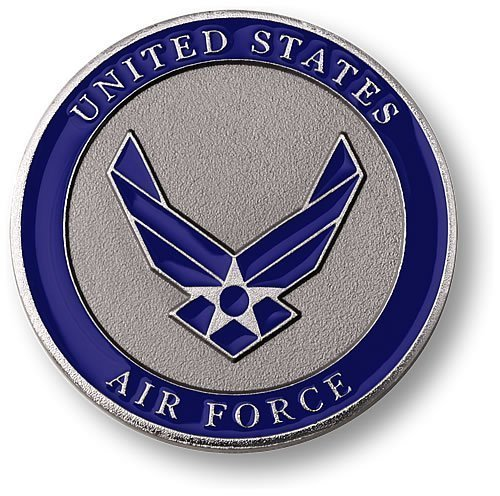 "Air Force Adhesive Medallion 1 3/4"" - 1"