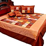 Ufc Mart Colorful Chess Design Silk Double Bedcover Set, Color: Multi-Color, #Ufc00358