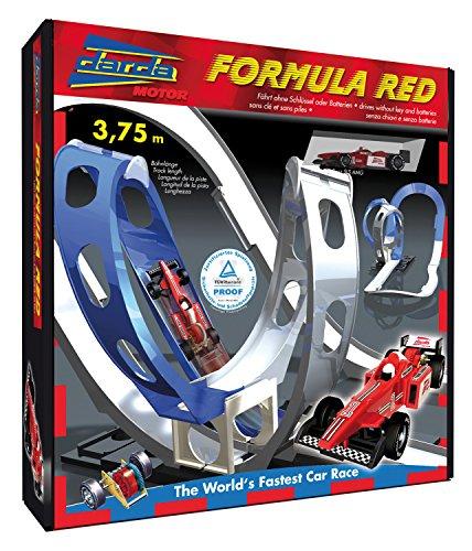 Darda 50106 - Rennbahn Formula Red, inklusive rotem Rennwagen, 375 cm Streckenlänge