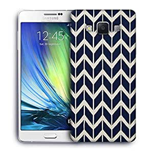 Snoogg navy white line waves 2502 Designer Protective Back Case Cover For Samsung Galaxy ON5
