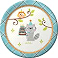 Happi Woodland Boy Themed Dessert Napkins & Plates Party Kit for 8