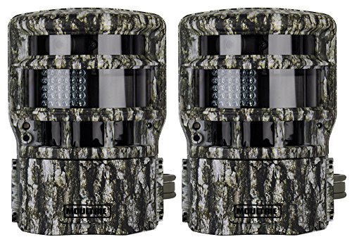 2 Moultrie Game Spy Low Glow Panoramic 150° Infrared Digital Trail Cameras - 8Mp