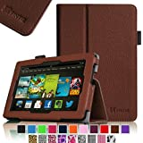 Fintie Amazon All New Kindle Fire HD 7 inch Slim Fit Folio Case with Auto Sleep / Wake Feature (will only fit All New Kindle Fire HD 7 2013 Model) - Brown