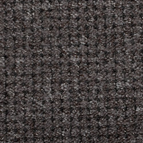 Brown  &  Grey Carpet with Anthracite Black Dot, Feltback Hardwearing Berber Loop Pile