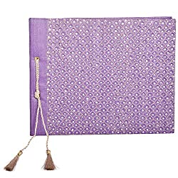 In Design Silk Handmade Paper Photo Album (EH01, Purple)